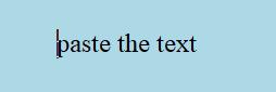 paste text