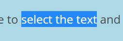select text